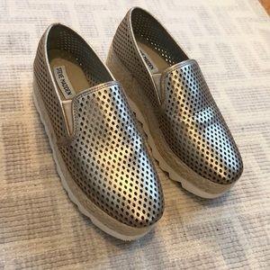 Steve Madden Gold Platform Espadrille Sneakers